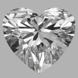0.76 Carat Heart Diamond (D/SI1)