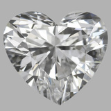 0.76 Carat Heart Diamond (D/VVS2)