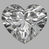 0.82 Carat Heart Diamond (F/SI1)