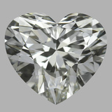 0.81 Carat Heart Diamond (J/IF)