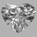 1.09 Carat Heart Diamond (D/IF)