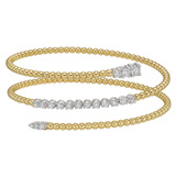18k Gold & Diamond Bead Wrap Bracelet