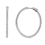 Large Diamond Hoop Earrings (~3.5 ct tw)