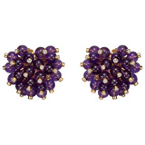 Amethyst & Diamond 'Pom Pom' Earrings