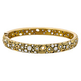 """Little Windows"" 18k Gold Bangle with Diamond"