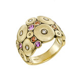"""Orchard"" Multicolored Sapphire & Diamond Ring"