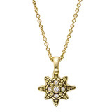 18k Gold & Diamond Star Pendant