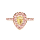 Yellow & Pink Diamond Cluster Ring