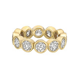 18k Yellow Gold Bezel-Set Diamond Eternity Band
