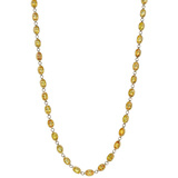 Bezel-Set Yellow Sapphire Chain Long Necklace