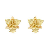 18k Yellow Gold Trillium Earclips