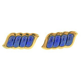 18k Gold & Lapis Cufflinks