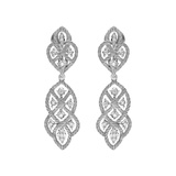 "18k White Gold & Diamond ""Etoilee"" Pendant Earrings"
