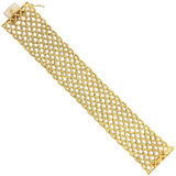 "Wide 18k Yellow Gold ""Crepe de Chine"" Bracelet"