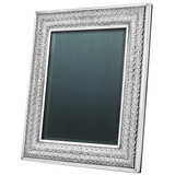 "Silver Double Linenfold Frame (8 x 10"")"