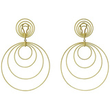 "Large 18k Yellow Gold ""Hawaii"" Pendant Earrings"