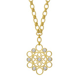 "18k Gold & Diamond ""Maria"" Pendant Necklace"