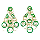 "18k Yellow Gold & Jade ""Hawaii"" Chandelier Earrings"