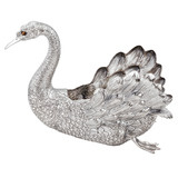 Large Silver Swan Centerpiece