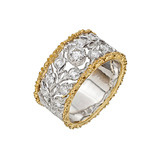 "18k Gold & Diamond ""Libra"" Band Ring"