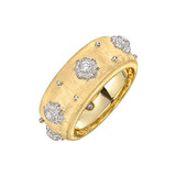 "18k Gold & Diamond ""Macri"" Band Ring"