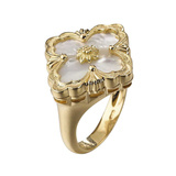 "18k Yellow Gold & Mother-of-Pearl ""Opera"" Ring"