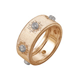 "18k Pink Gold & Diamond ""Classica"" Band Ring"