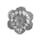 Small Silver Narcissus Flower Dish