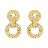 "18k Gold ""Two Cerchi"" Drop Earrings"