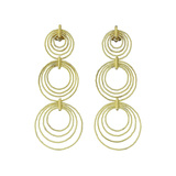 "18k Yellow Gold ""Hawaii"" Triple Drop Pendant Earrings"