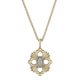 "18k Yellow Gold & Diamond ""Opera"" Pendant"
