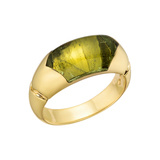 18k Yellow Gold & Peridot Dress Ring