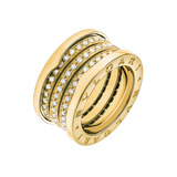 "18k Yellow Gold & Diamond ""B.Zero1"" Ring"
