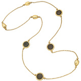 18k Yellow Gold Ancient Coin Long Necklace
