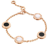 Black Onyx & Mother-of-Pearl Station Bracelet