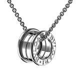 "18k White Gold ""B.Zero1"" Pendant Necklace"