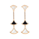 "Black Onyx & Mother-of-Pearl ""Divas' Dream"" Drop Earrings"
