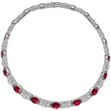 Ruby & Diamond Collar Necklace