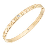 "18k Yellow Gold & Diamond ""Bvlgari-Bvlgari"" Bangle"