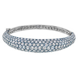 Pavé Rose-Cut Diamond Bangle Bracelet
