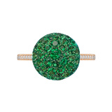 Emerald & Diamond Dome Ring