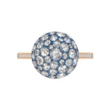 Pavé Rose-Cut Diamond Dome Ring