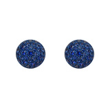 Pavé Sapphire Domed Stud Earrings