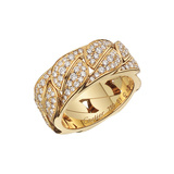 "18k Yellow Gold & Diamond ""La Dona"" Band Ring"