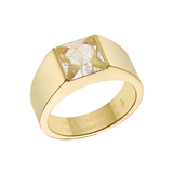"18k Yellow Gold & Rutilated Quartz ""Tank"" Ring"