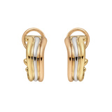 "18k Tri-Colored Gold ""Trinity"" Earclips"