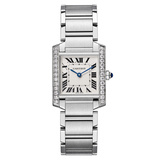 Tank Francaise Medium Steel & Diamonds (W4TA0009)