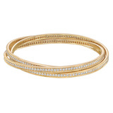 "18k Yellow Gold & Diamond ""Trinity"" Bangle"