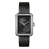 Boy.Friend Tweed Medium Black Steel (H5318)