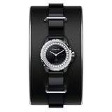 J12 19mm Black Ceramic & Diamond Cuff (H4663)